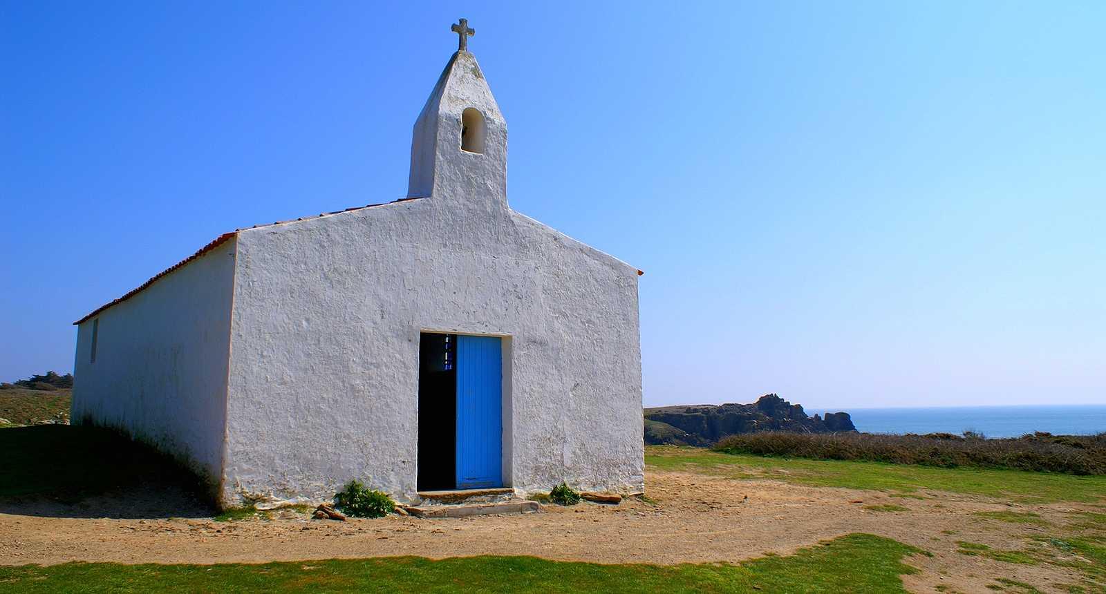La petite chapelle de Port-la-Meule sur l'Île d'Yeu