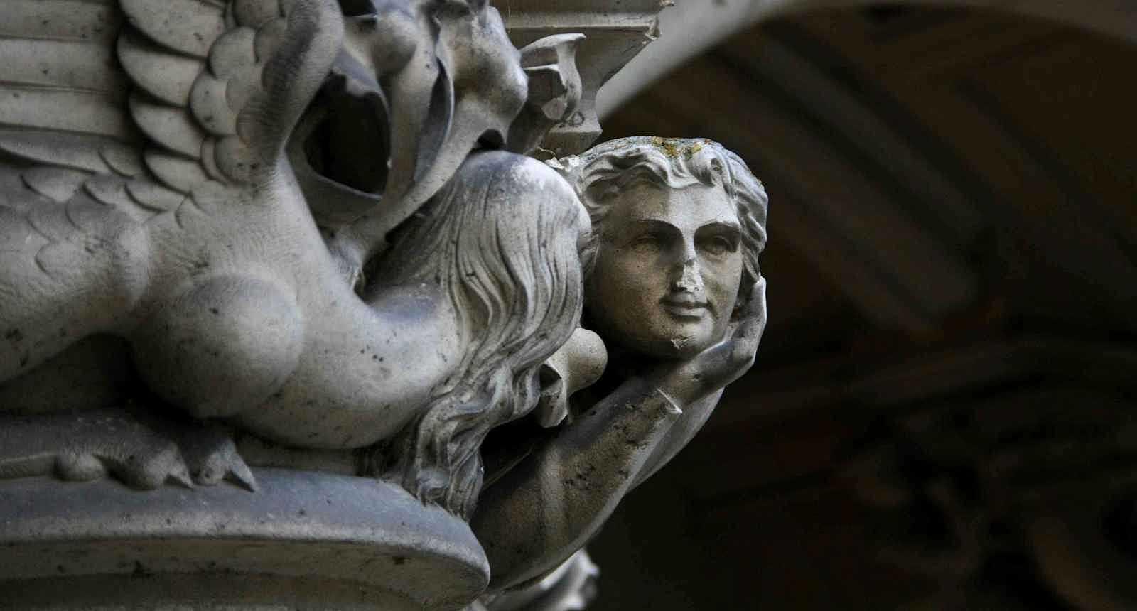 Détail sculpté du Château de Pierrefonds