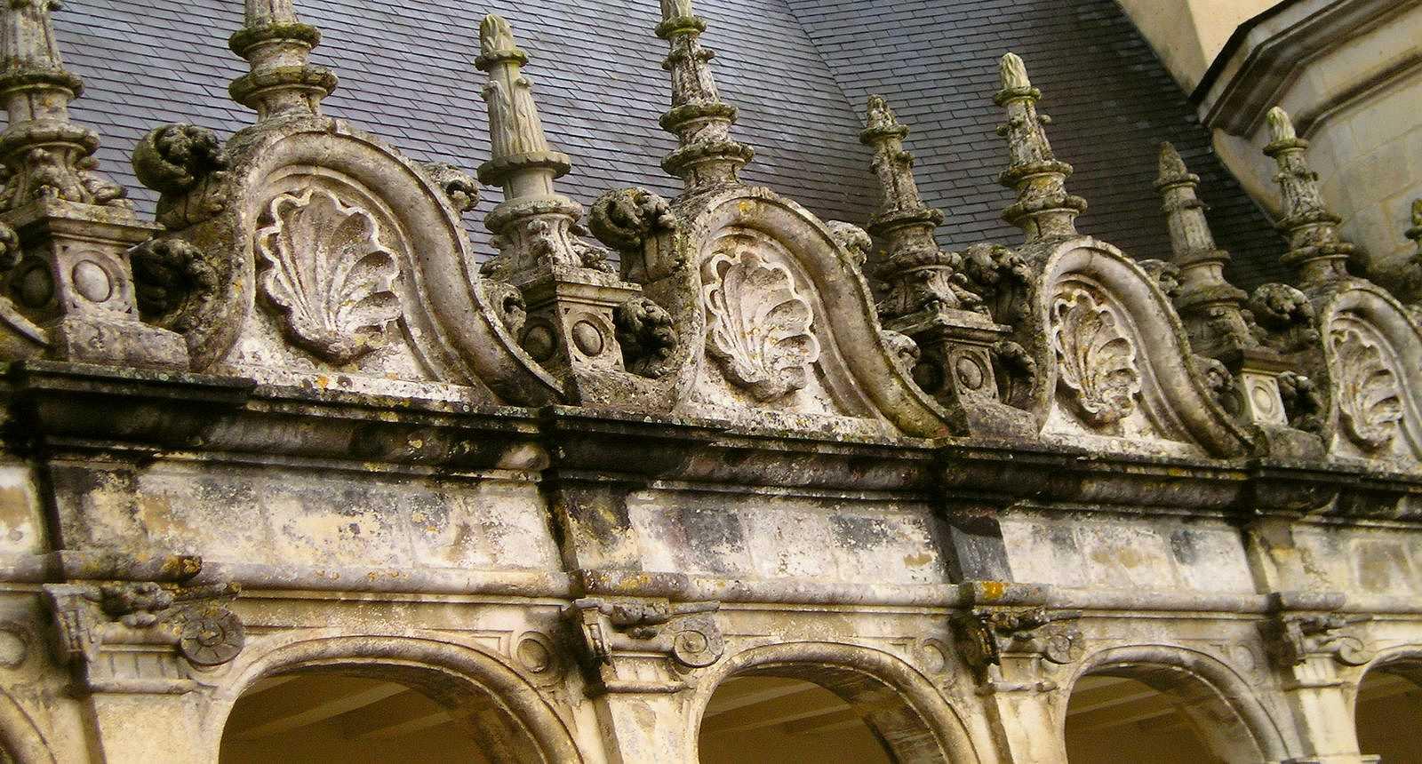 Détail de la façade du Château de La Rochefoucauld