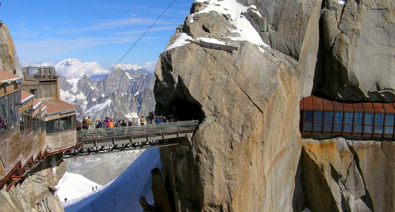 La Passerelle de l'Aiguille du Midi