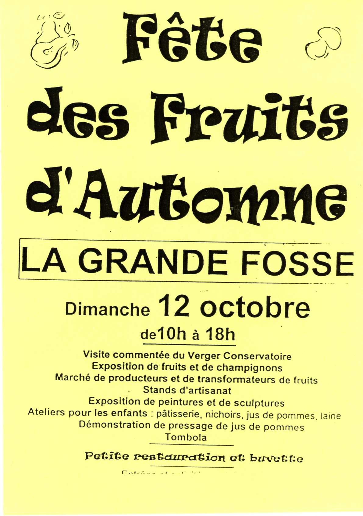 Fête des fruits d'automne