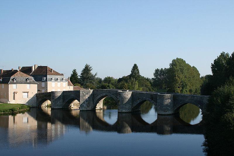 Pont sur la Gartempe entre Saint-Germain et Saint-Savin