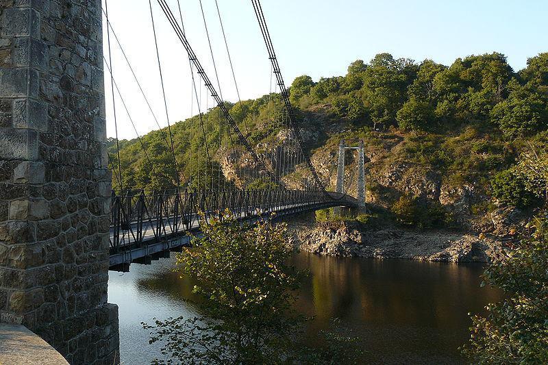 Image : Méandre de la Tarde et Pont supendu
