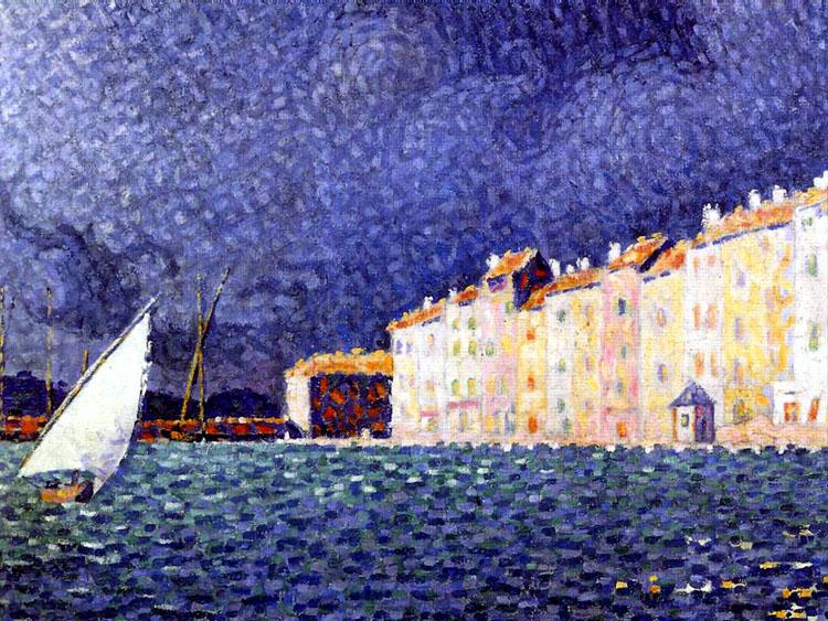 Siorac, L'orage à Saint-Tropez, musée de l'Annonciade