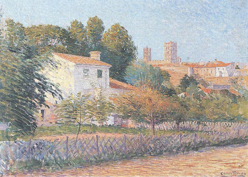 Etienne Terrus, Vue d'Elne