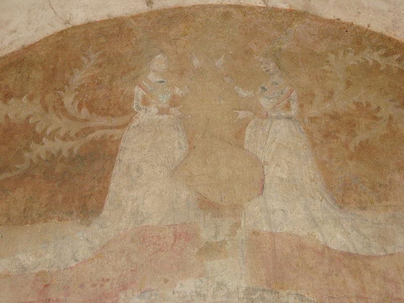 Tour clocher de Crépol, fresques EST