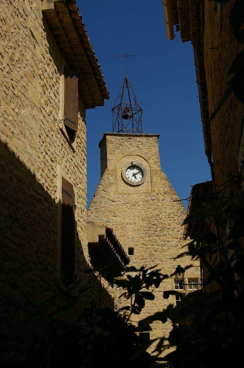 Clocher d'Ansouis (84240), Luberon, Vaucluse, Provence
