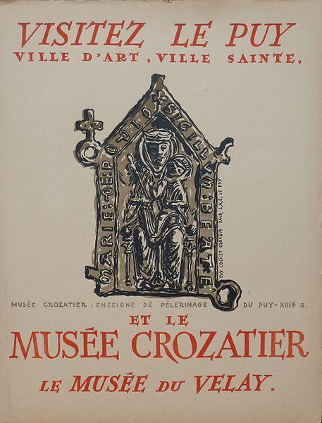 Affiche Le Puy et Musée Crozatier
