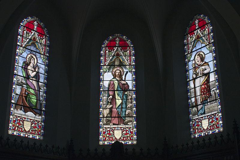 Chambœuf-Église sainte Blandine-Verrières de l'abside
