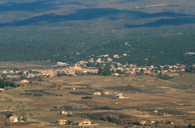 Villes-sur-Auzon depuis Blauvac
