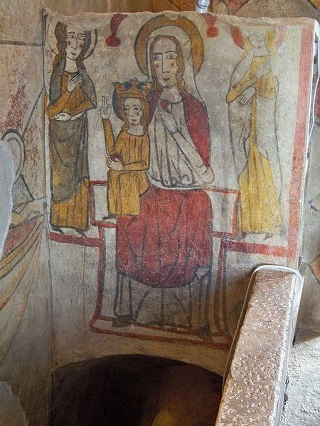 Tour Ferrande - Fresque escalier