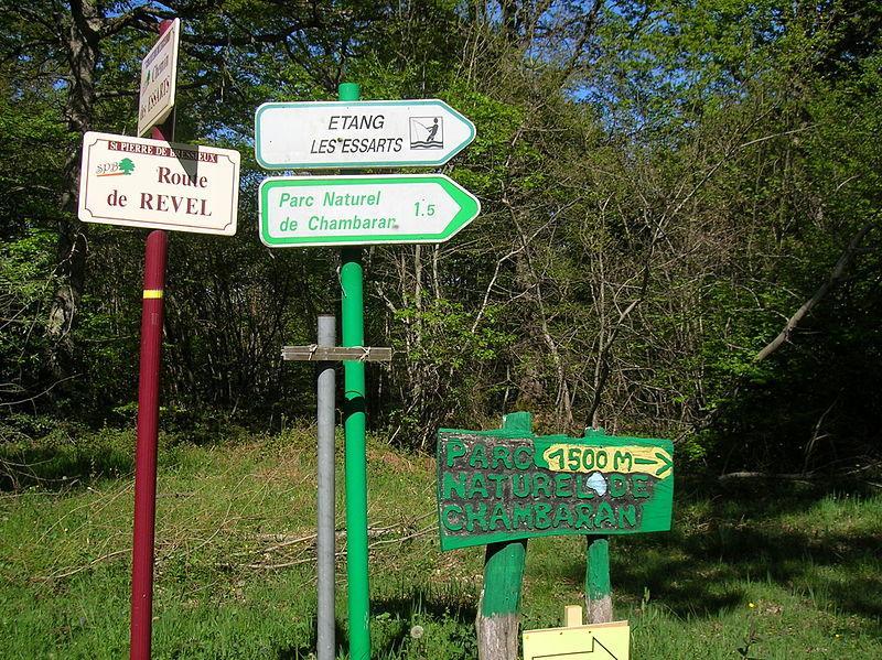 Panneaux Parc naturel de Chambaran
