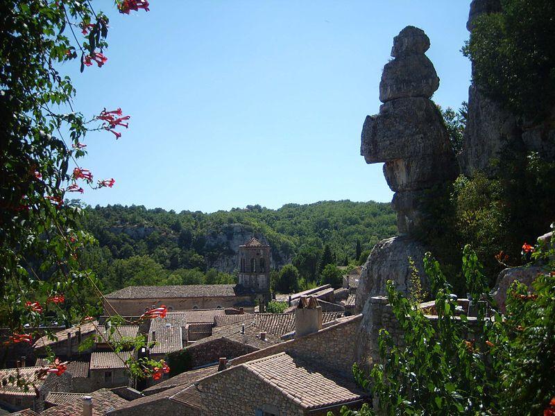Les toits du village de Labeaume