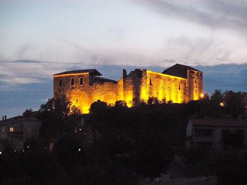 illumination du Chateau des templiers de Gréoux