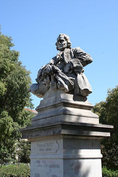 Statue de Pierre Puget : Jardin Alexandre 1er