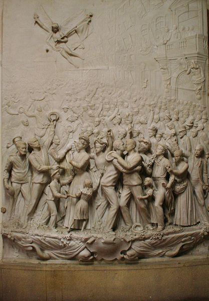 Bas-relief exposé au musée du Vieux Toulon.
