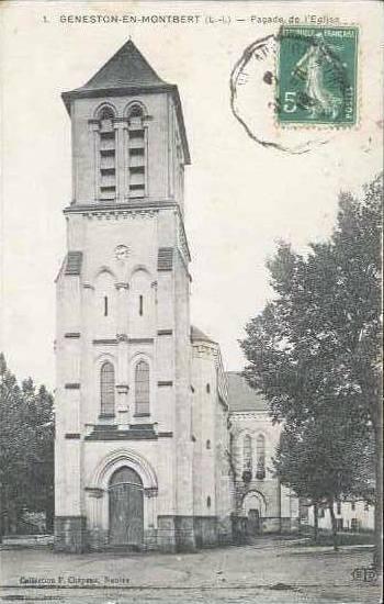 Geneston - façade de l'église