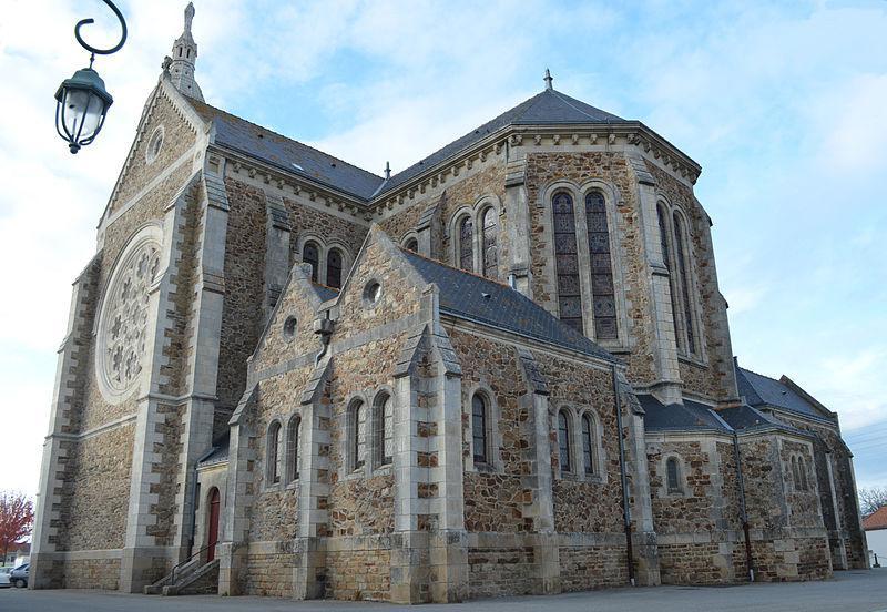 Eglise de Saint-Lumine-de-Coutais (il faut monter au clocher !)