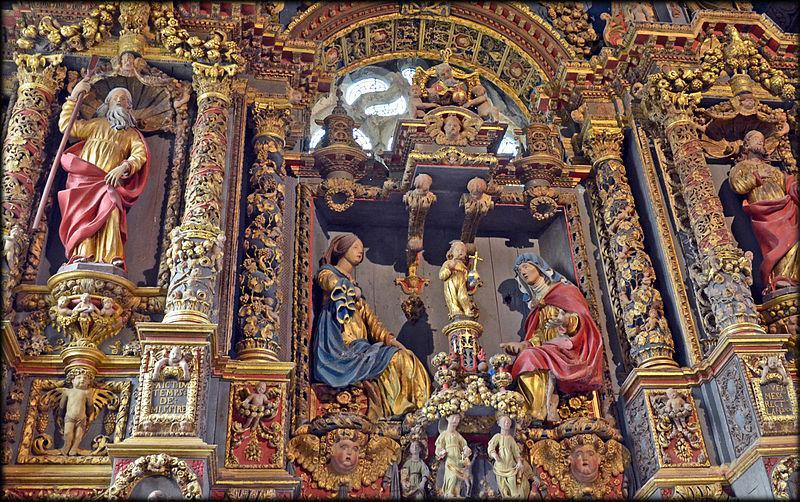"""""""retable des cinq plaies"""", église Saint-Derrien de Commana"""
