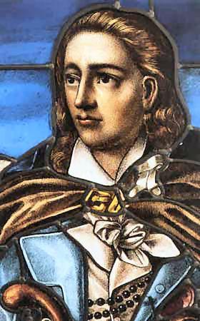 Vitrail Notre-Dame de Beaupréau, portrait du général Jacques Cathelineau