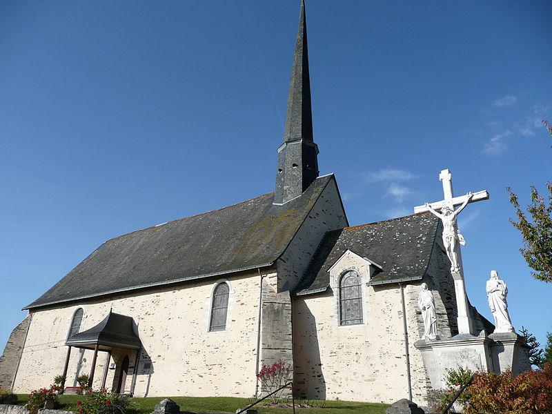 Pouancé - église Saint-Aubin