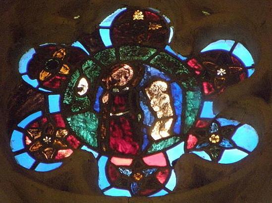 Vitrail du Jugement dernier de l'abbatiale de Saint-Méen-le-Grand