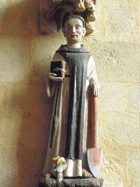 Statue de Saint-Fiacre, Abbatiale de Saint-Méen-le-Grand