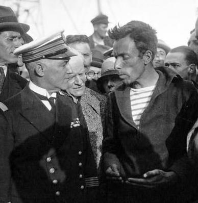 Alain Gerbault au Havre en 1929