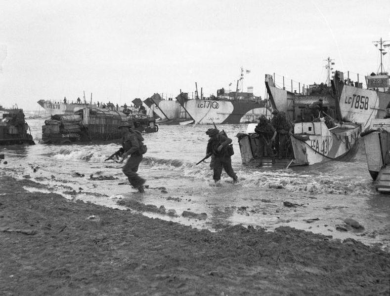 Troupes anglaises débarquées le 6 juin 1944