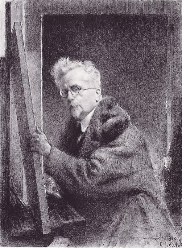 Autoportrait de Charles Léandre, musée de Condé-sur-Nireau