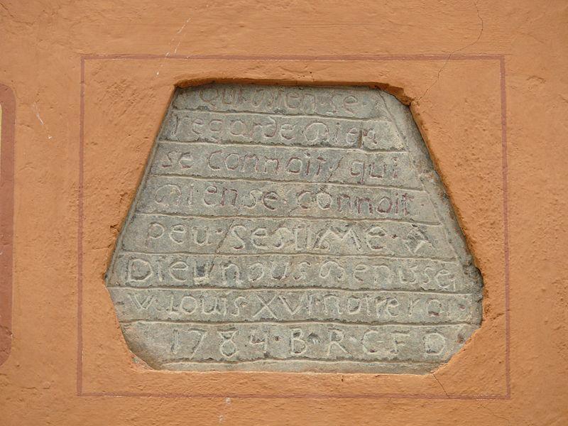 Abriès - Plaque encastrée dans un mur