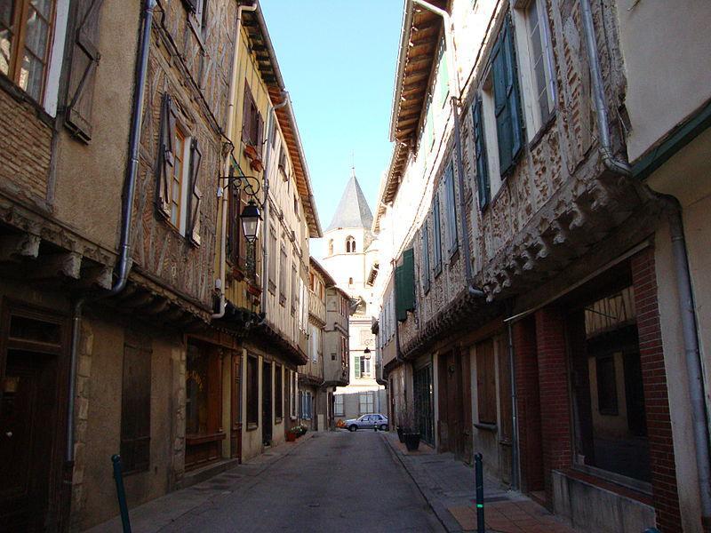 Sorèze (Tarn, Fr) ruelle aux colombages