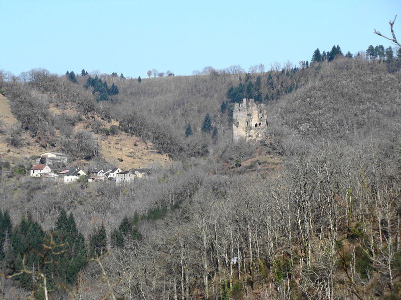 Le château de Roumégous vu de Jouqueviel