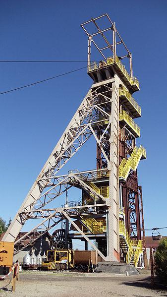 Le chevalement de la mine de fer d'Aumetz