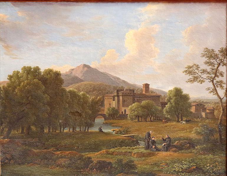 Vue du couvent de Grotta Ferrata et ses environs, Musée Comtadin-Duplessis