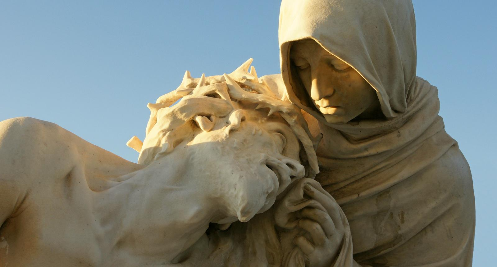 Notre-Dame-de-la-Garde, statue de Jésus et la Vierge Marie