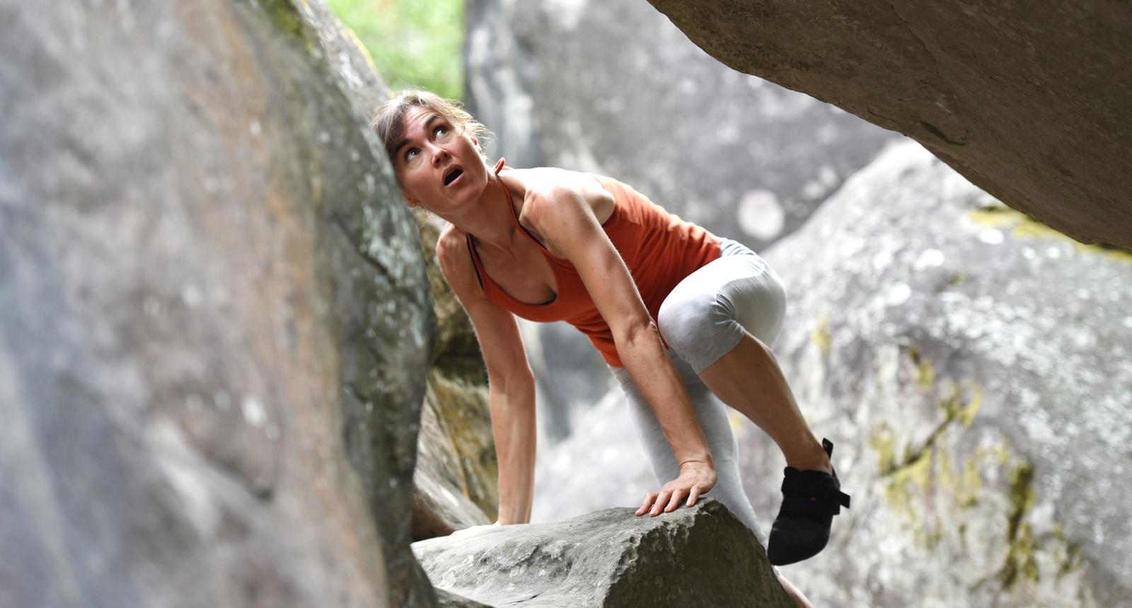 Pratique de l'escalade en Forêt de Fontainebleau