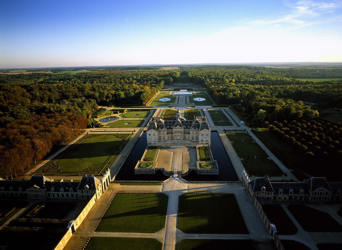 Château de Vaux le Vicomte vue du ciel
