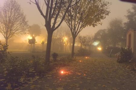 observatoire jolimont parc dans brouillard TOULOUSE