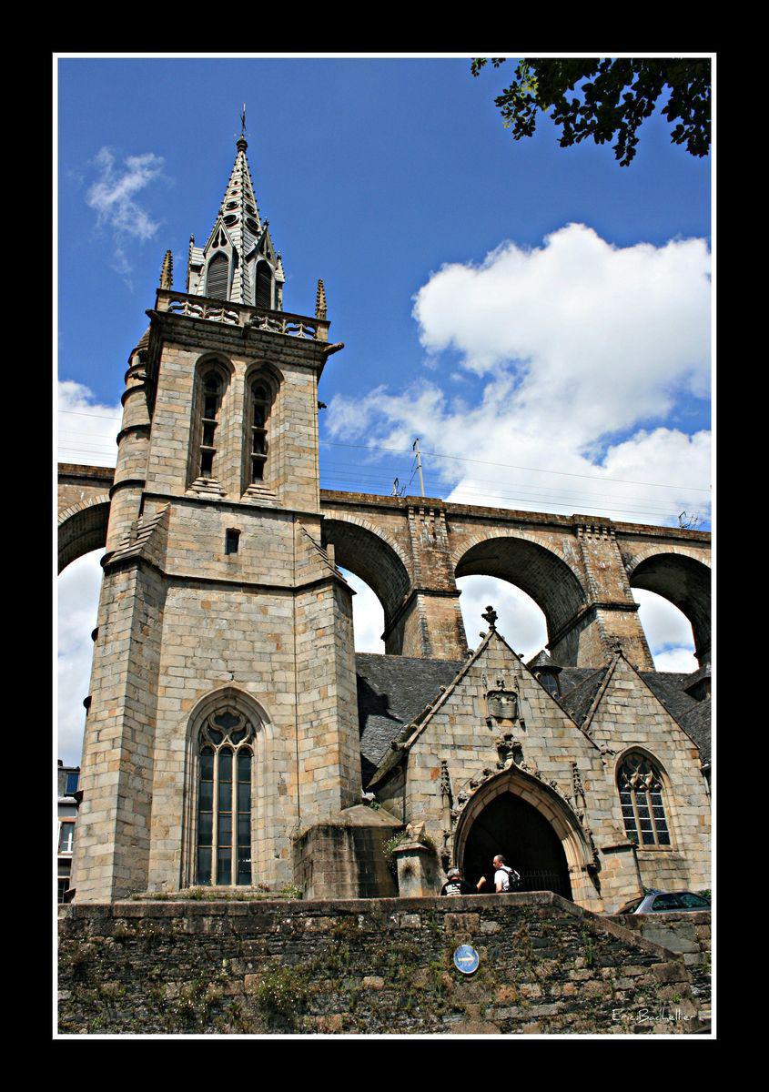 Viaduc et église Sainte-Mélaine_Morlaix