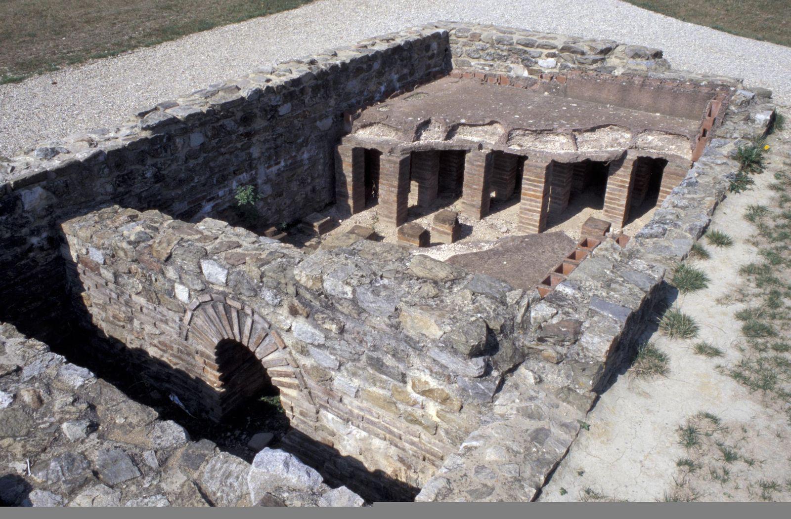 hypocaustum des cinq mosaiques Saint Romain en Gal_Vienne