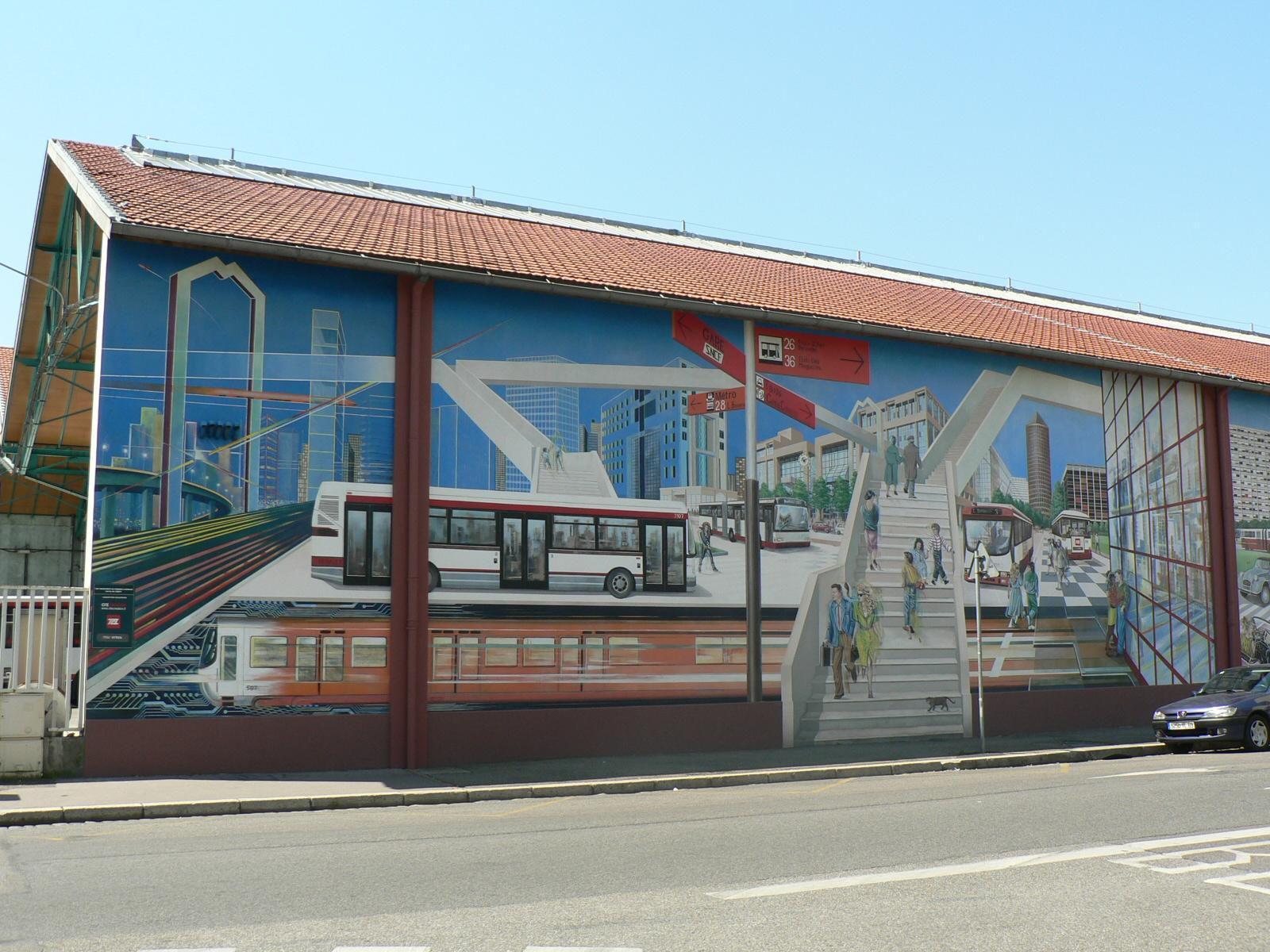Fresque Histoire des Transports en Commun_Lyon