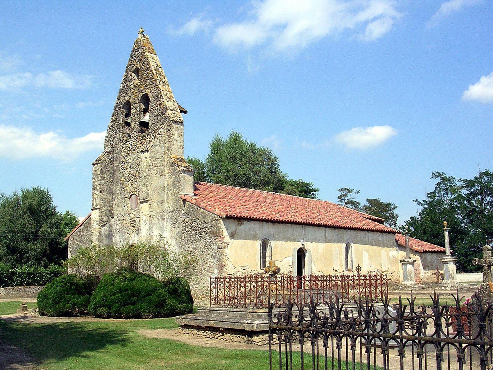 Quartier et église de Saint Christau_Benquet