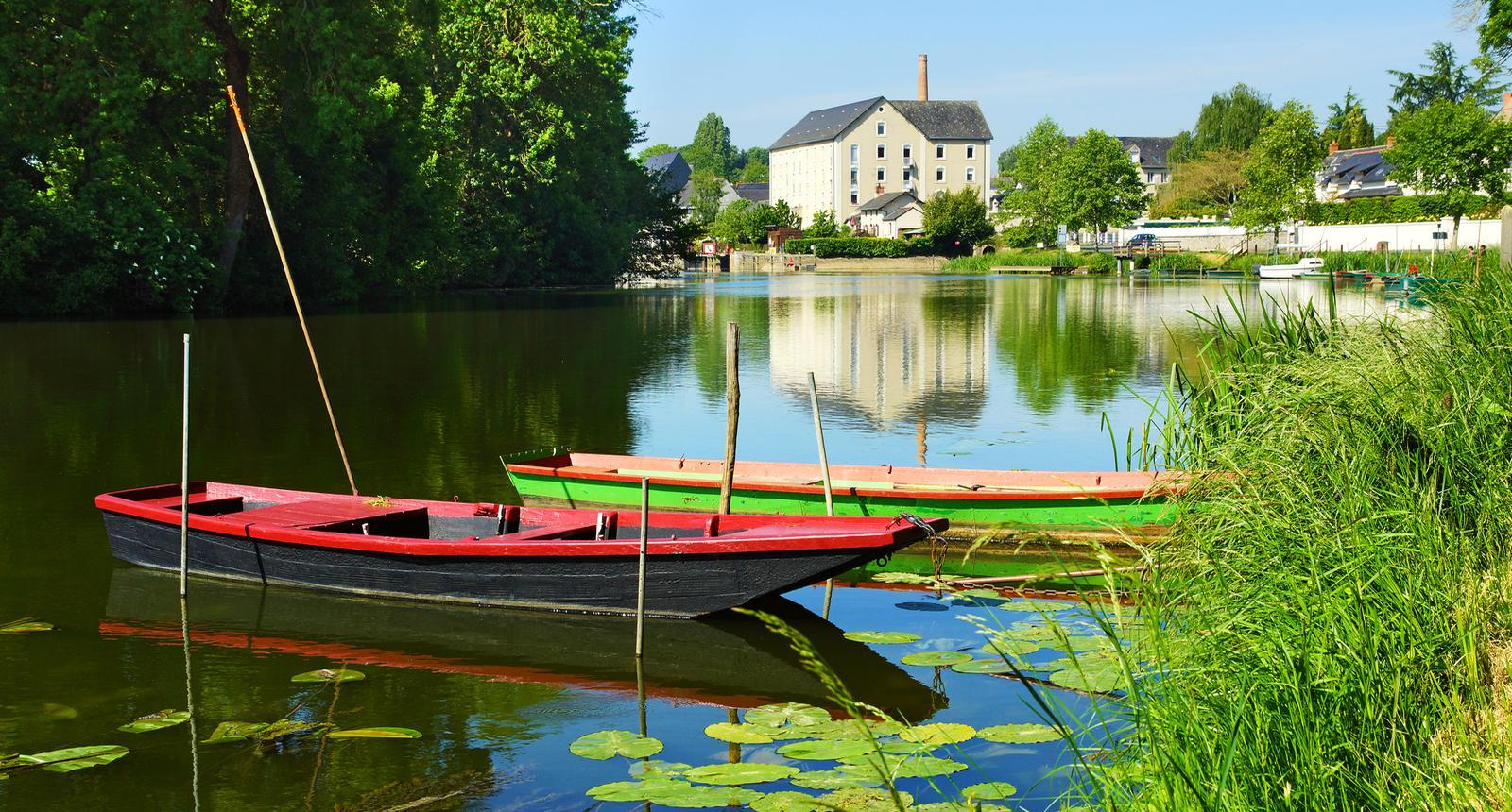 Barques sur la Sarthe, Châteauneuf-sur-Sarthe
