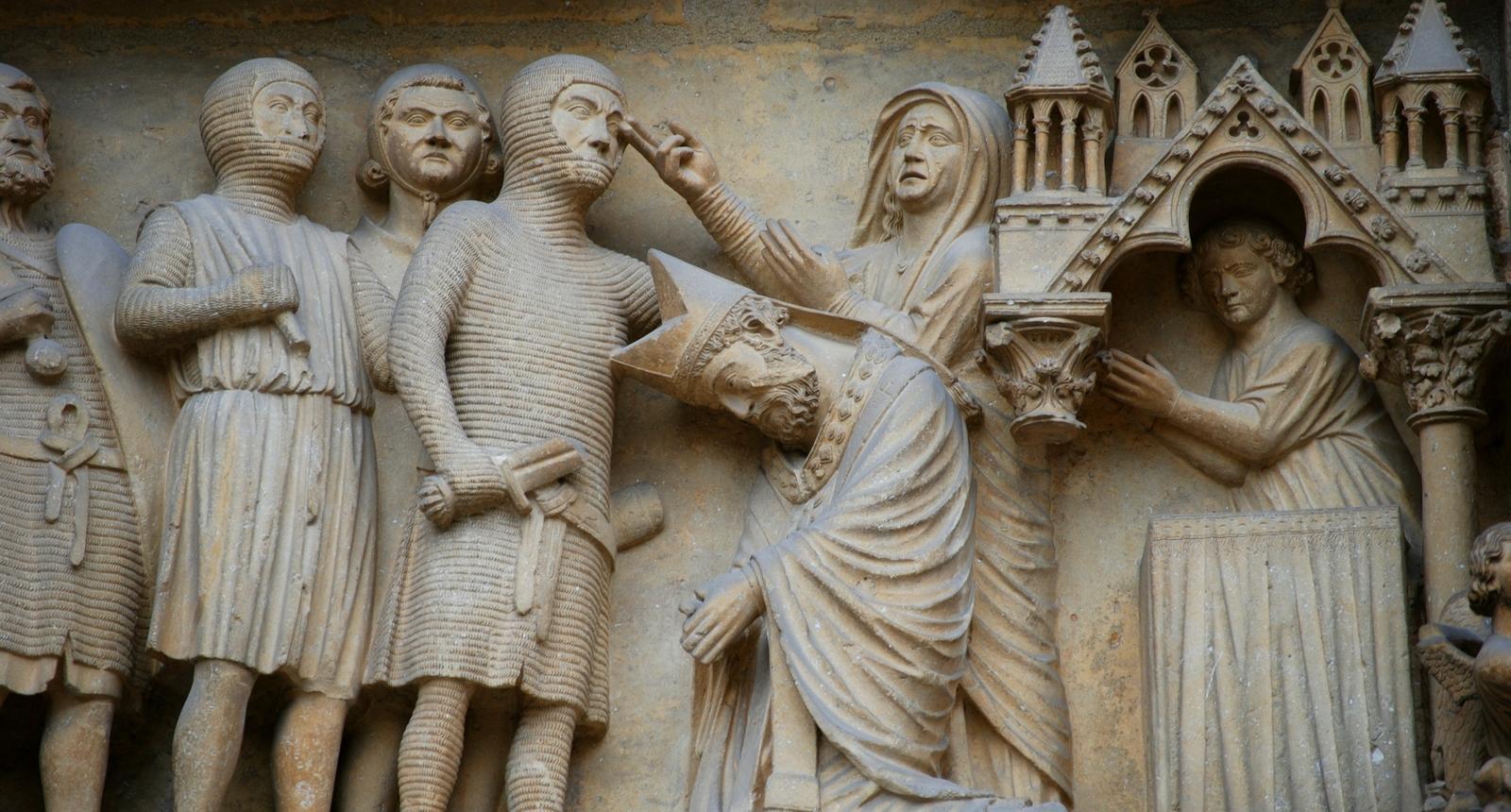 Cathédrale de Reims, détail du portail