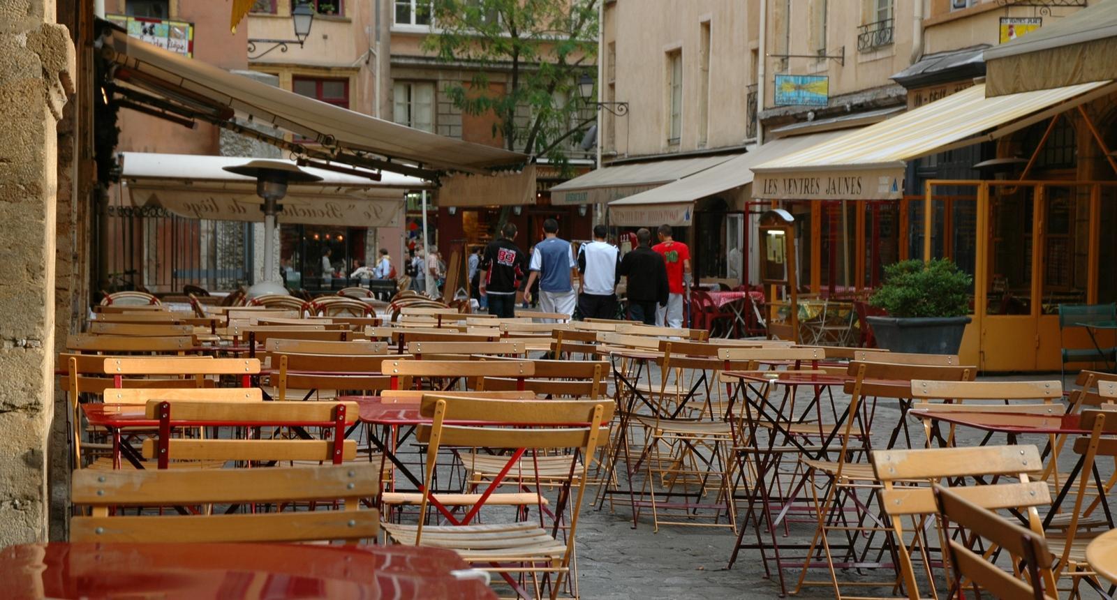 Terrasse à Saint-Jean, vieux Lyon