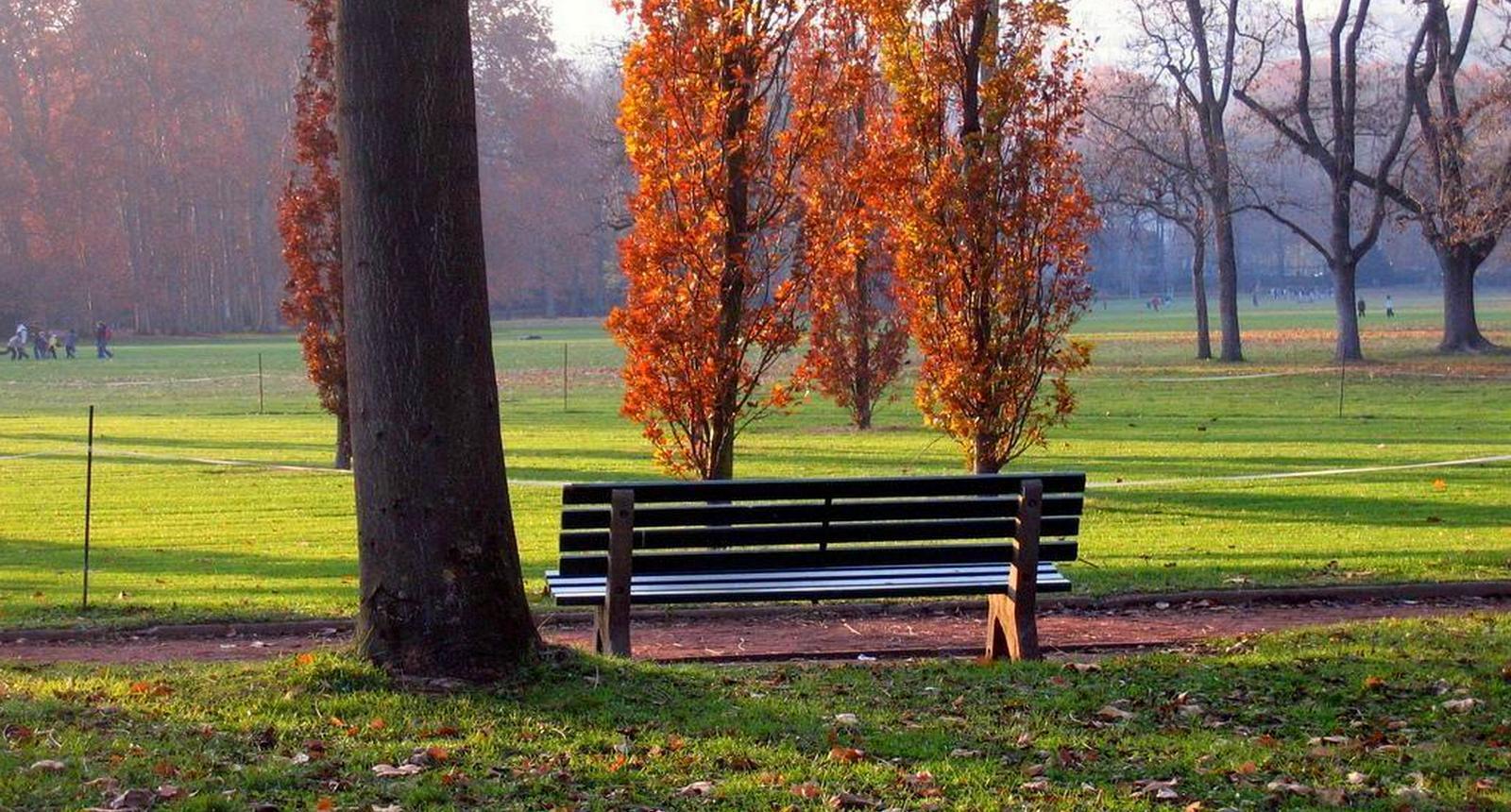 Lyon, le Parc de la Tête d'Or en automne