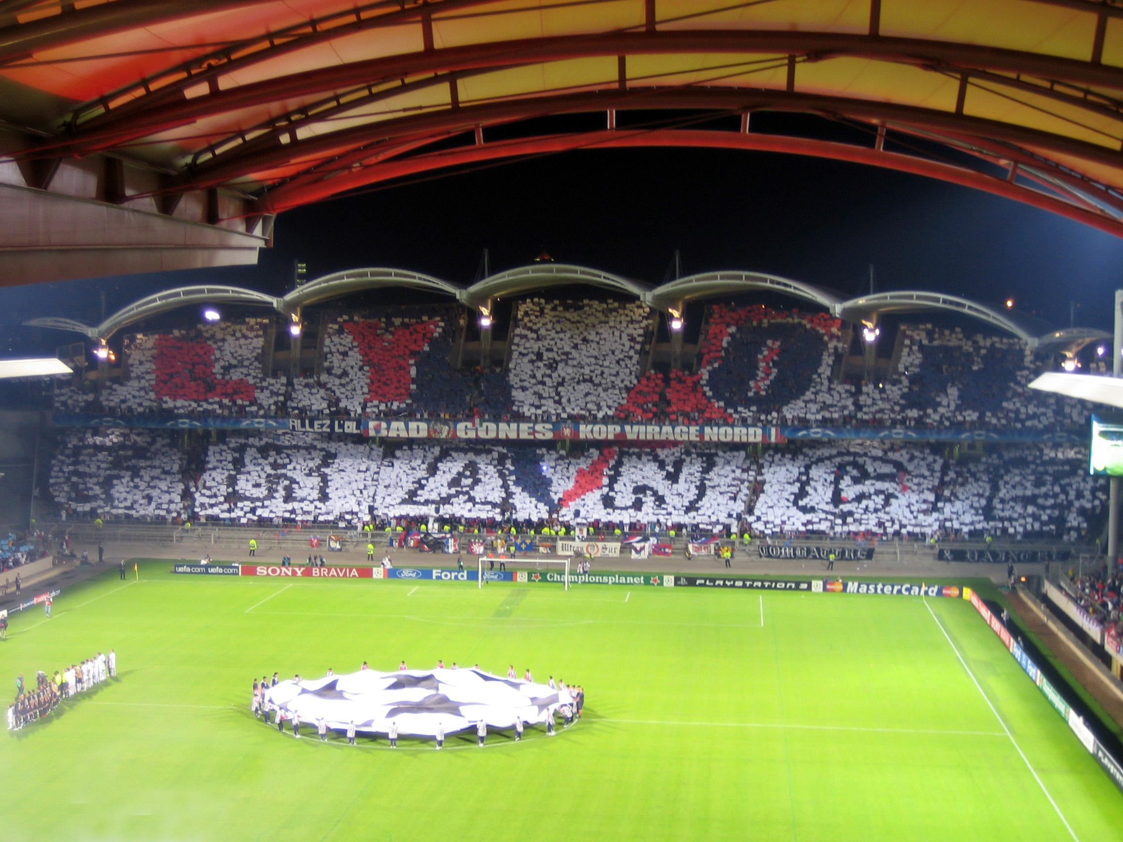 Le stade de Gerland, réception du Real Madrid
