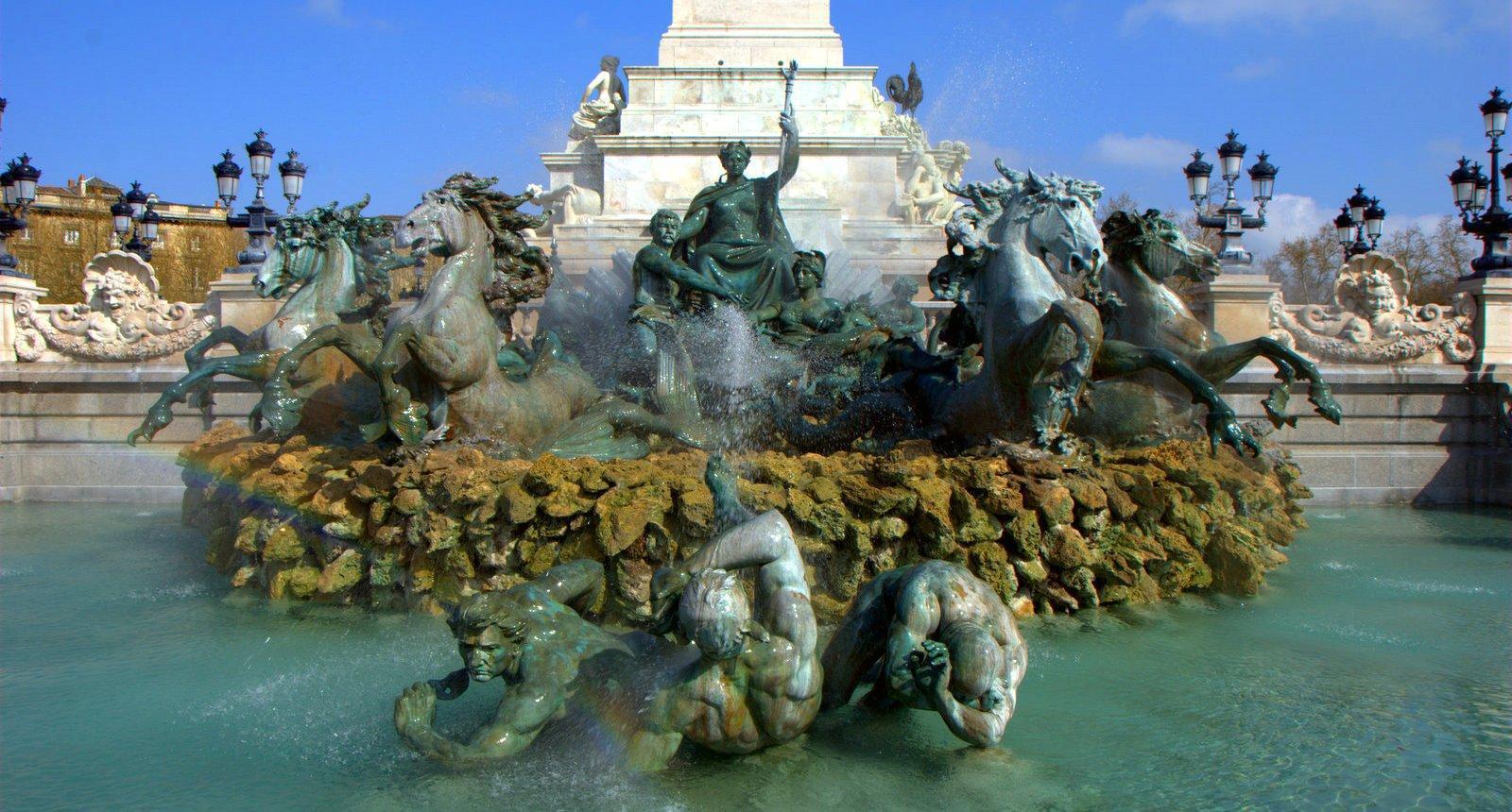 Bordeaux, le Monument aux Girondins sur la Place des Quinconces