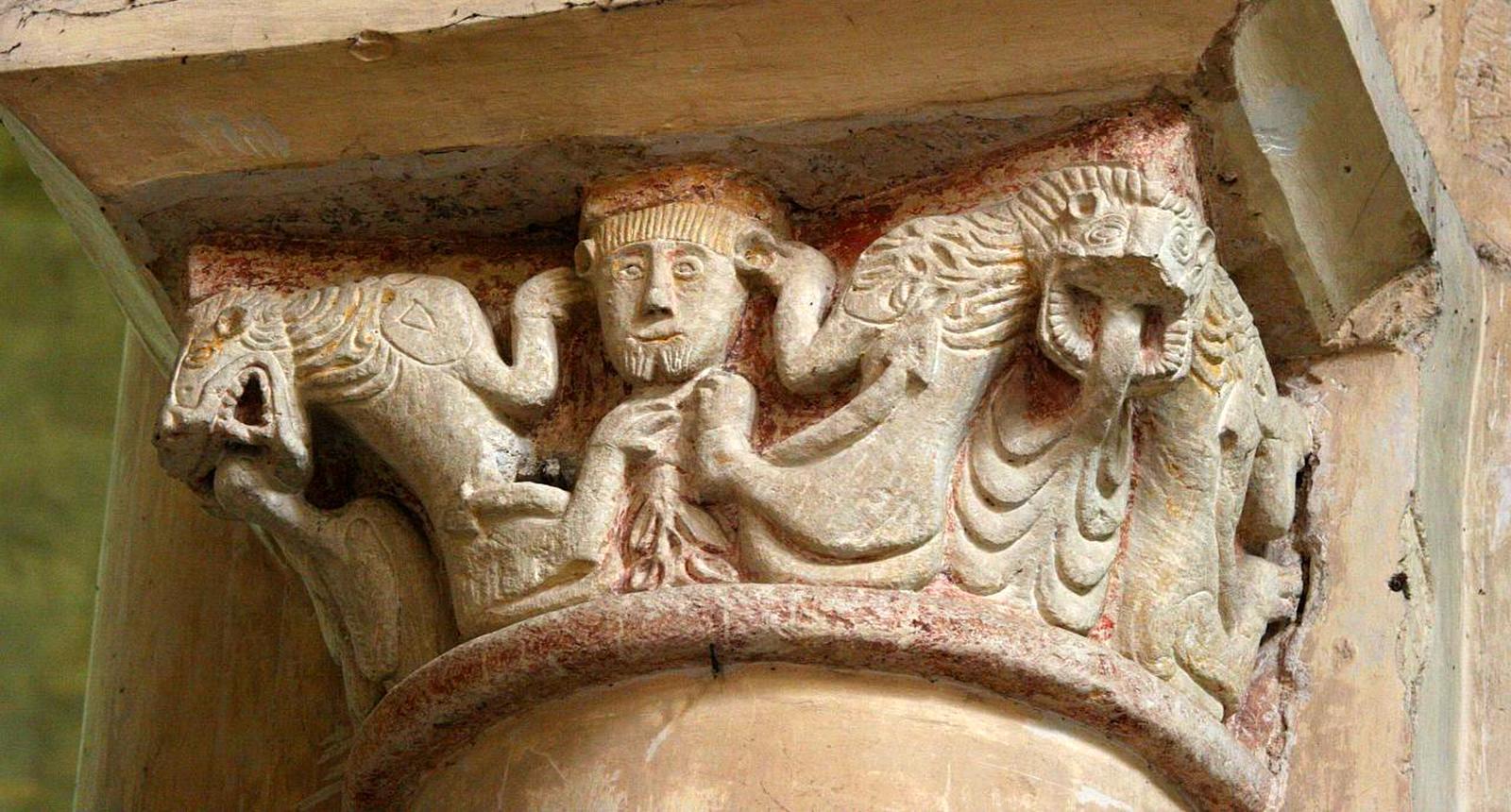 Chapiteau de l'église Saint-Hilaire-le-Grand, Poitiers